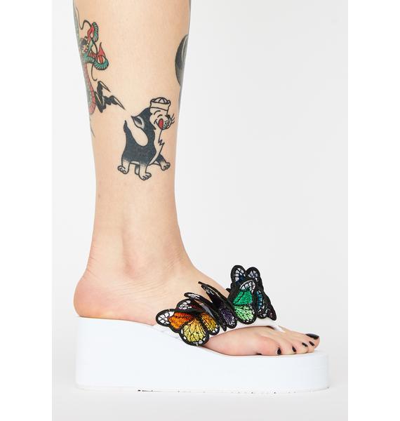 Pure Friends 4 Life Platform Sandals