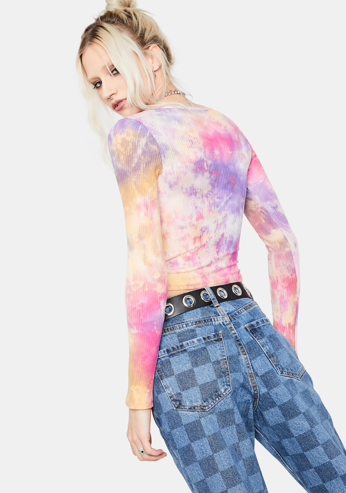 Sunset Want You Back Tie Dye Crop Top