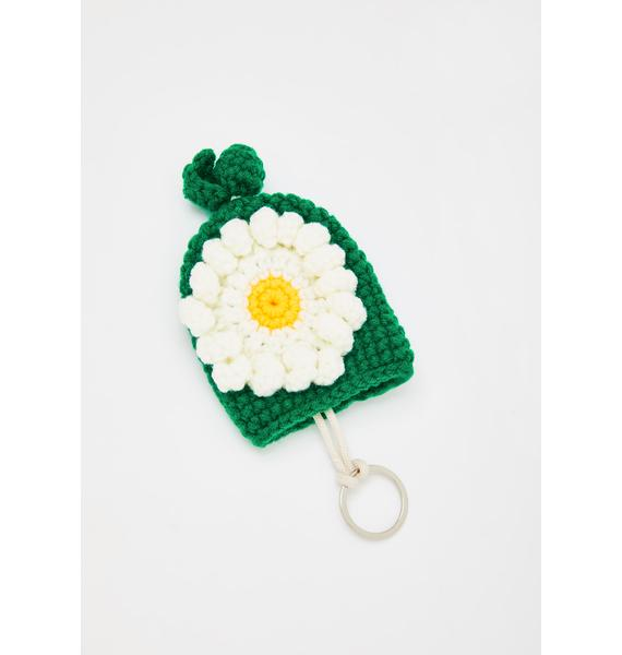Daisy From The Garden Knit Key Cover