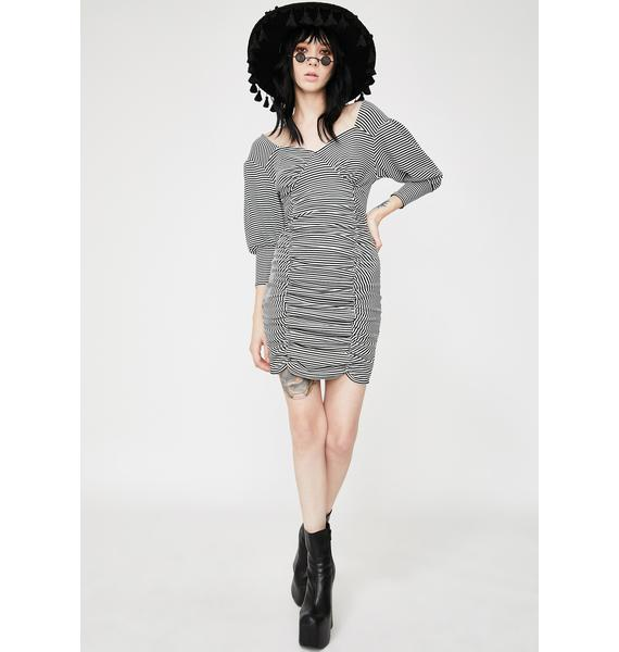 Another Reason Ruched Puff Sleeve Mini Dress