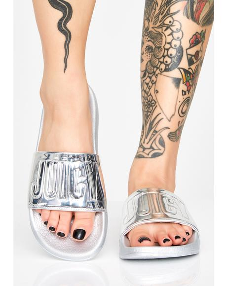 Chrome Mara Metallic Slides