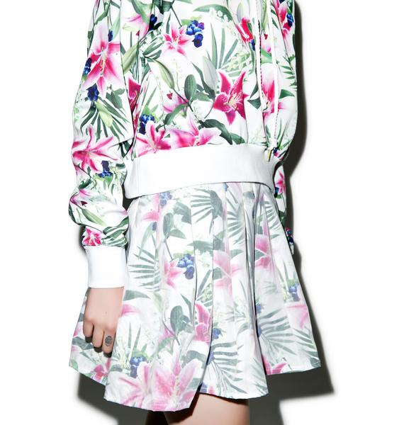 Joyrich Optical Garden Pleats Skirt