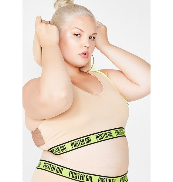 Poster Grl That Thirst Trap Hooded Sports Bra
