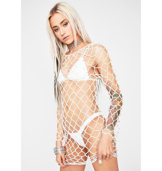 Chill Desert Drifter Fishnet Dress