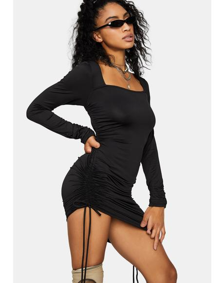 Thru 'N Thru Long Sleeve Mini Dress