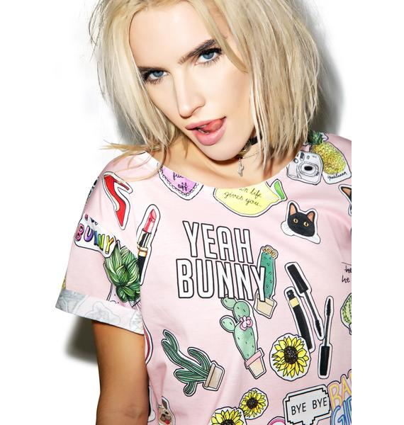 Yeah Bunny Sticker Swag Tee