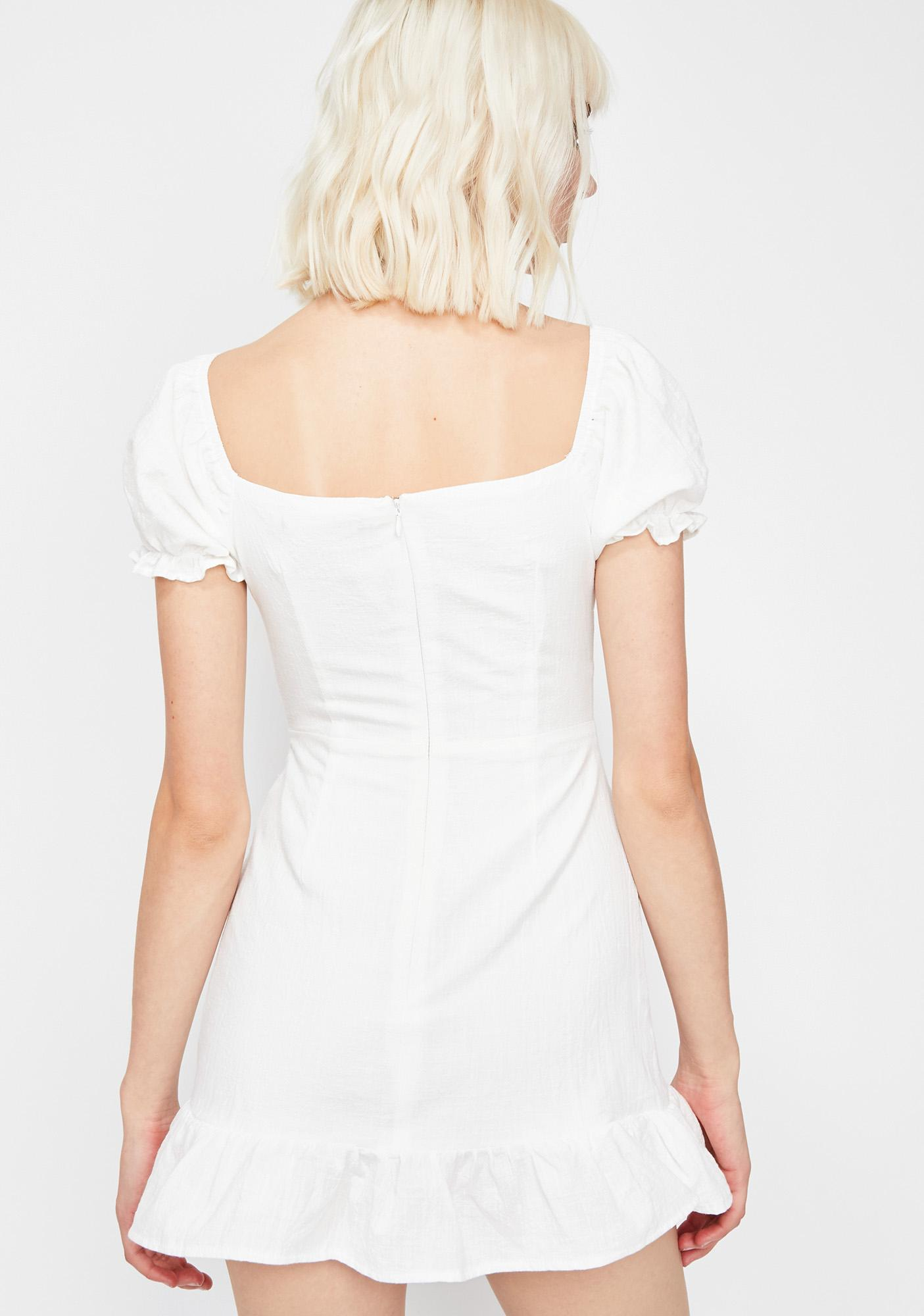 Ivory Wind Peasant Dress