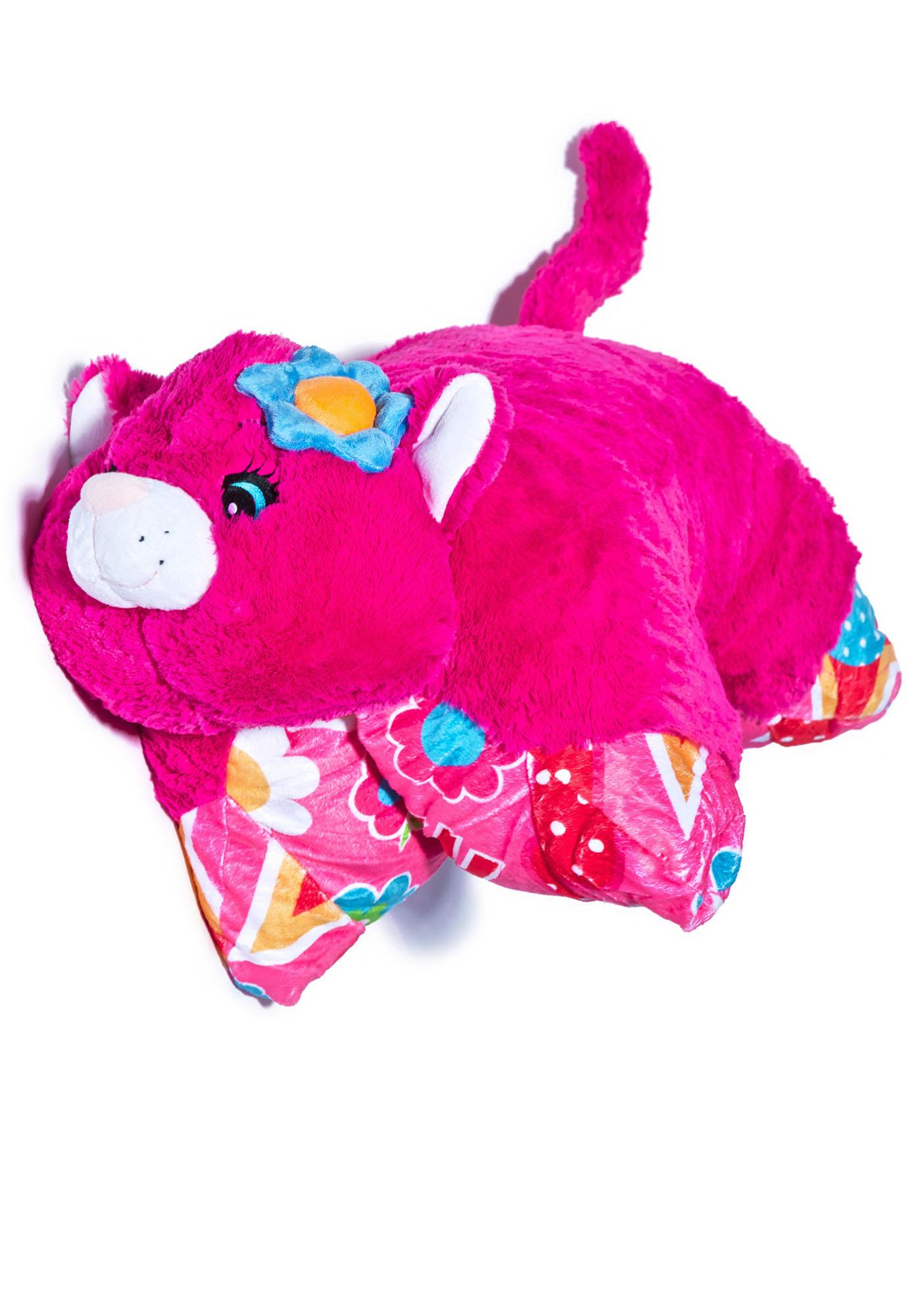 Pillow Pets Jumboz Flower Power Cat Pillow