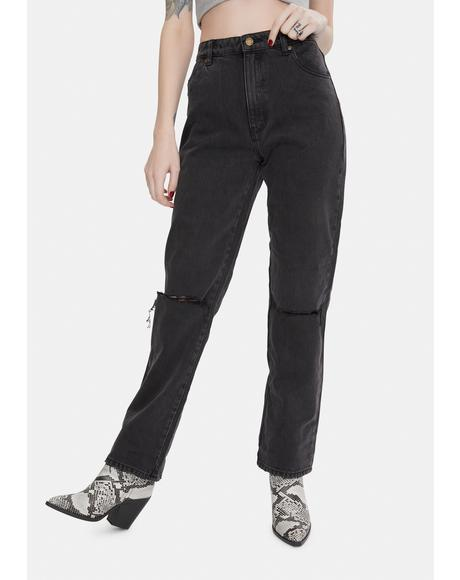 Stoned Black Original Straight Leg Jeans