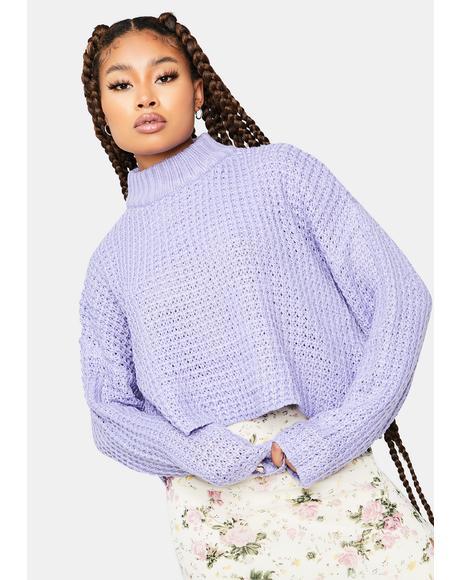 Take Ur Time Crop Knit Sweater