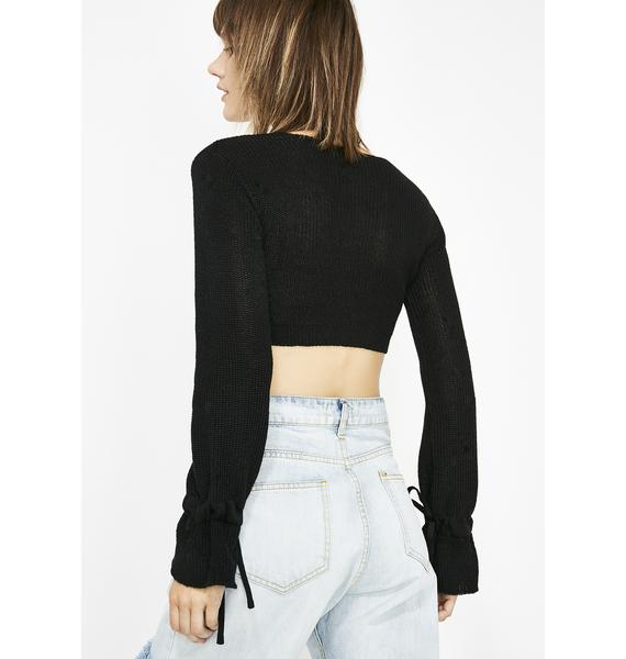 Luna Livin' For It Crop Sweater