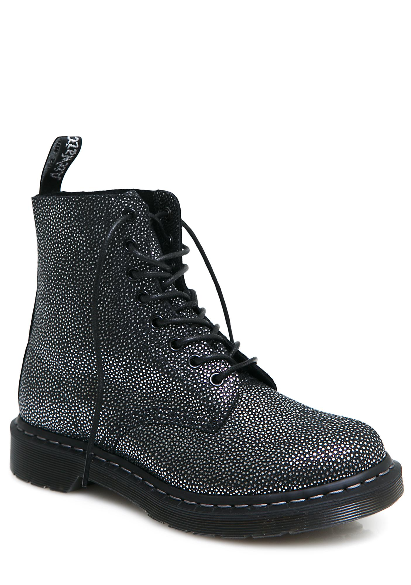Dr. Martens Metallic Pebble 1460 8 Eye Boots