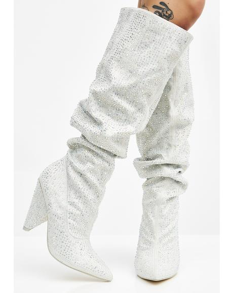 Iced To Death Knee High Boots