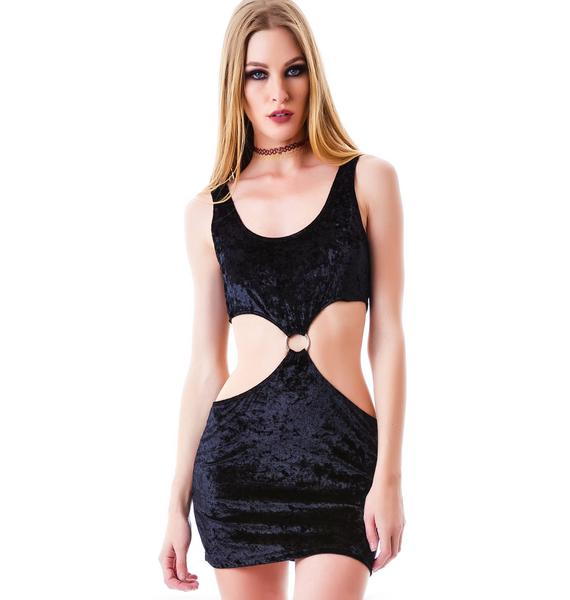 The Big O Velvet Cut Out Dress