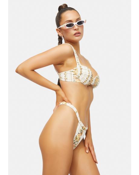 Peggy Floral Bandeau Bikini Set
