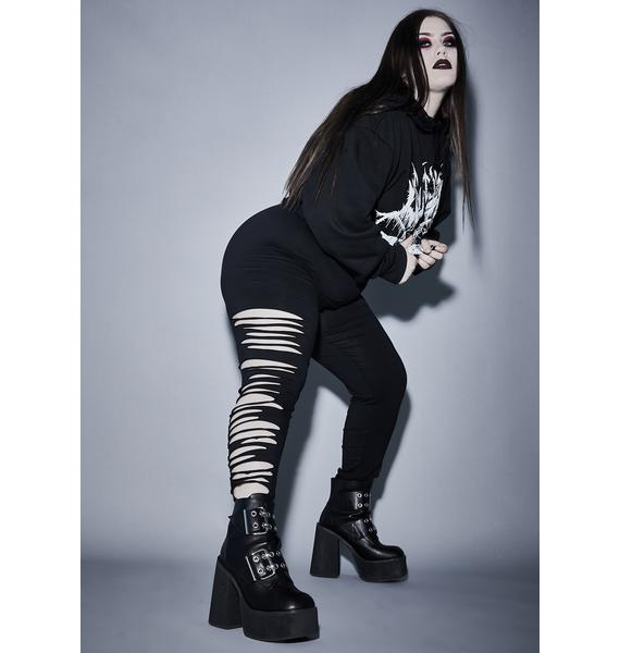 Widow Sacred Immortal Crypt Creeper Shredded Leggings