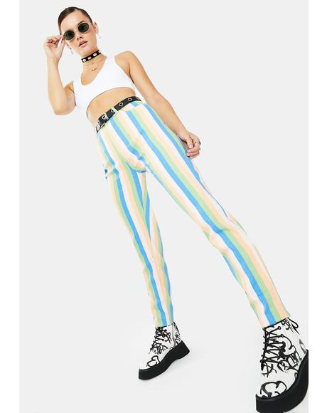 Pastel Stripe Mom Jeans
