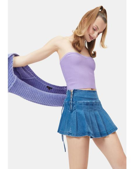 Fairy Pop To The Top Sweater Tube Top