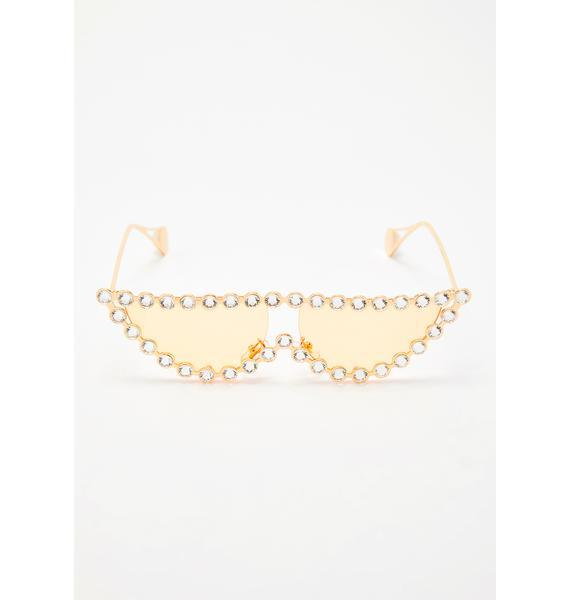 Juicy Glam Vision Jeweled Sunglasses