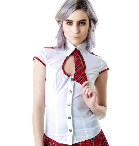 Lip Service Britney School Girl Tie Top