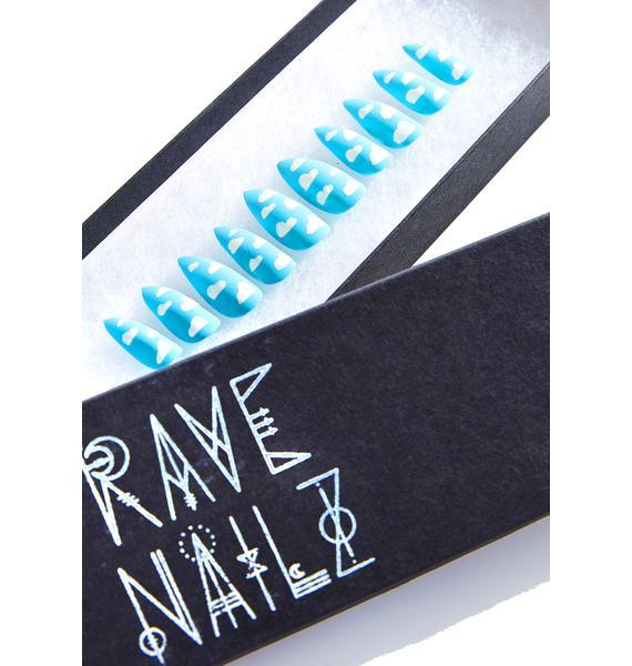 Rave Nailz Matte Cloud Nail Set