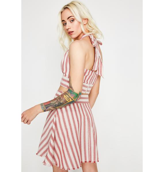 Love Heals Stripe Skirt