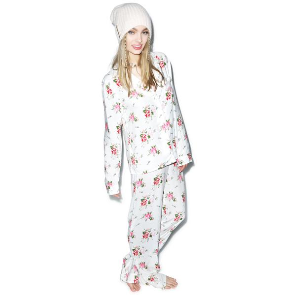 Wildfox Couture Lover's Bouquet Classic Pajama Set