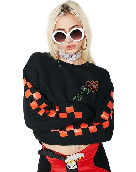 Rosa Cropped Crewneck