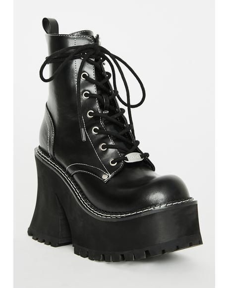 Dark Animal Behavior Platform Boots