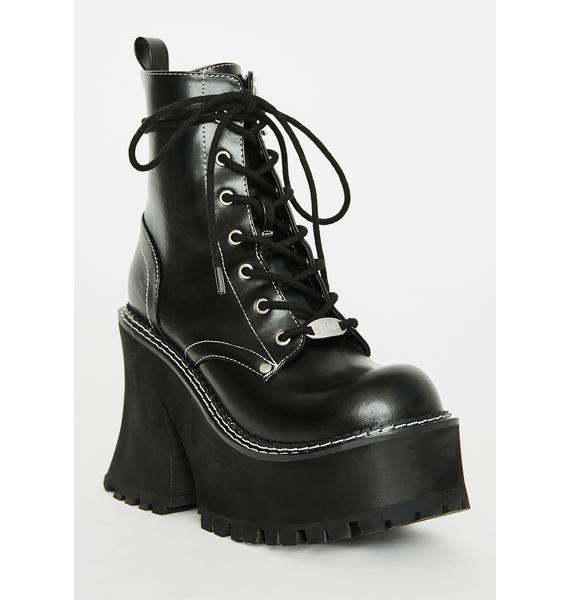 dELiA*s by Dolls Kill Dark Animal Behavior Platform Boots