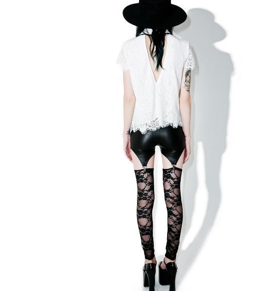 Lace Lust Garter Leggings