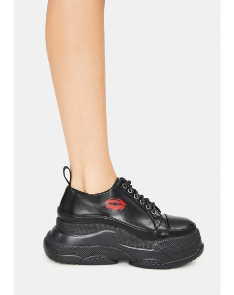 Kiss Platform Sneakers