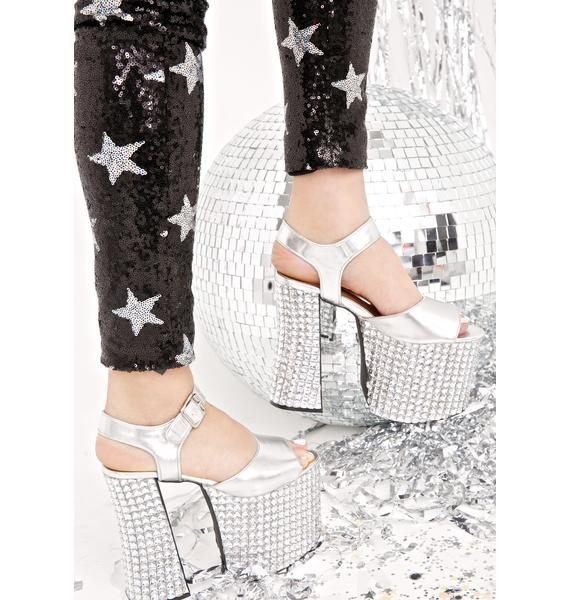 Current Mood Death By Disco Platform Heels