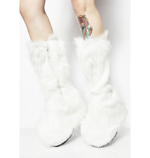 Pure Party Monster Fuzzy Platform Boots