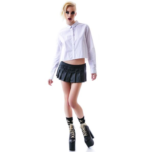 Lip Service Look At Me Now PVC Pleated Skirt