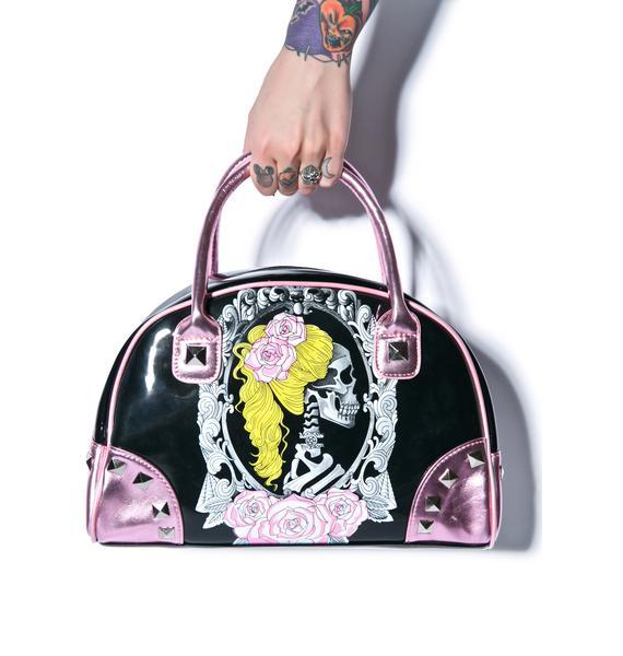 Too Fast Cameo Skull Bates Handbag