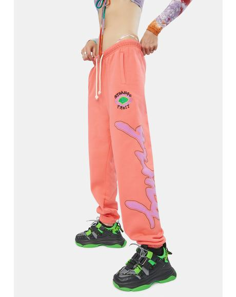 Strange Fruit Coral Sweatpants