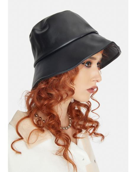 No Complaints Vegan Leather Bucket Hat