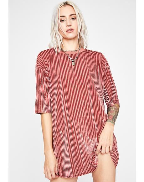 Baby Tryna Hang Velvet Dress