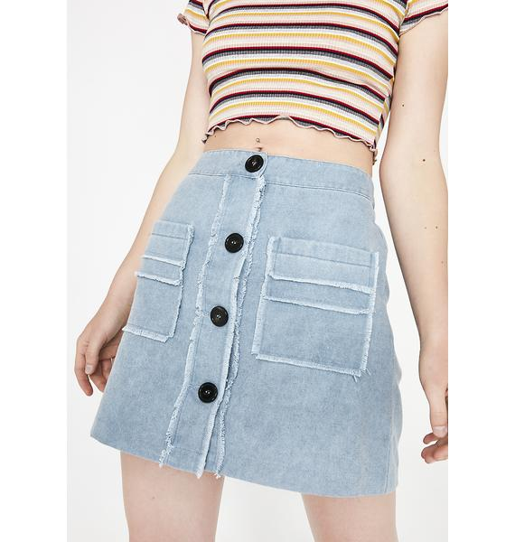 Keep It Cute Button-Up Skirt