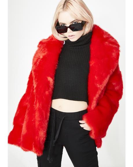 Cherry Rita Coat