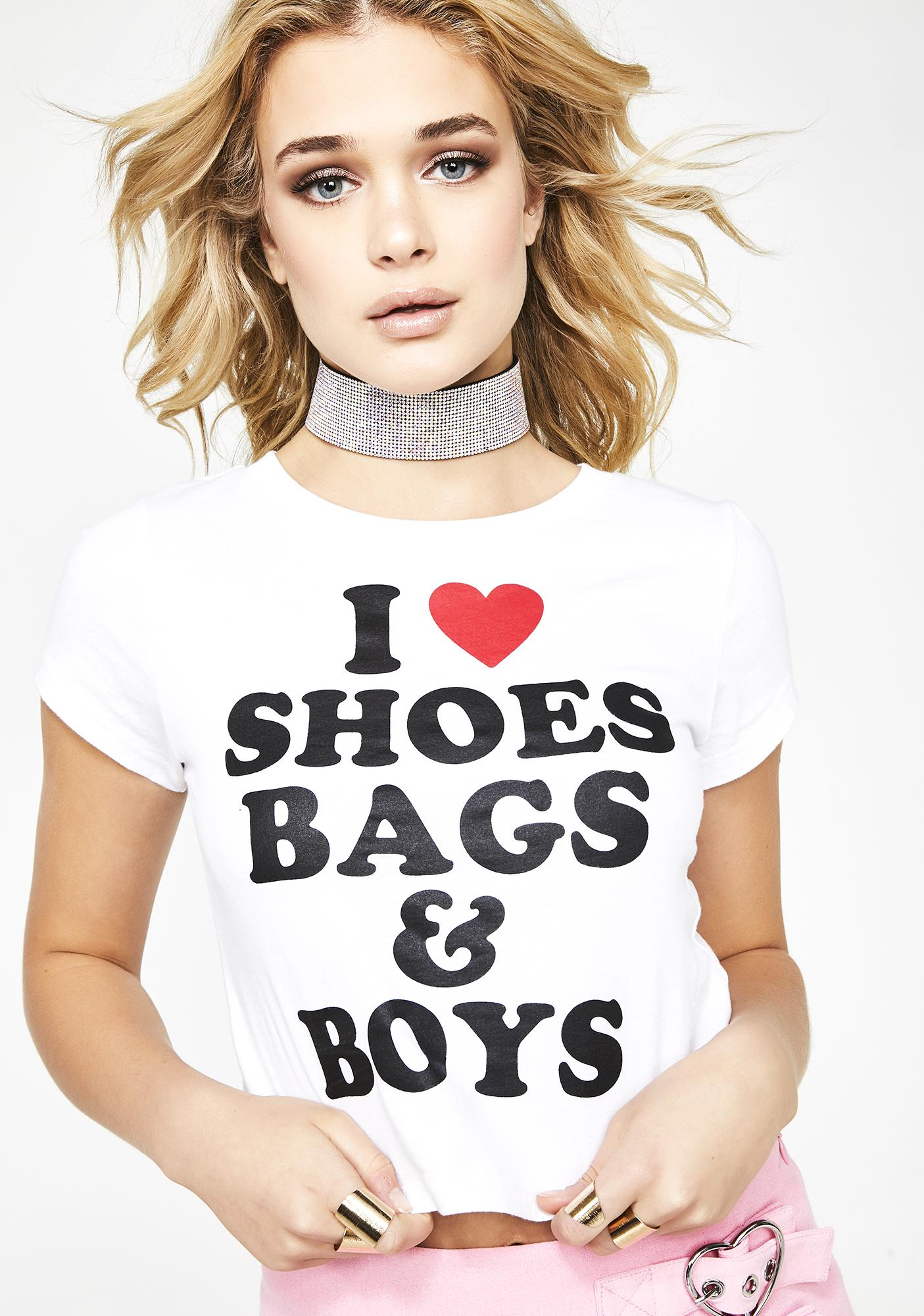 7b7a042a Sugar Thrillz I Love Shoes Bags & Boys Baby Tee | Dolls Kill