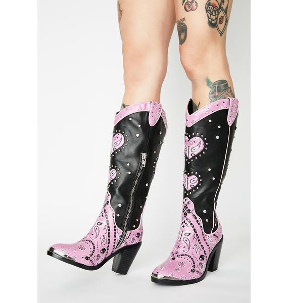 Sugar Thrillz Candy Bandit Cowboy Boots