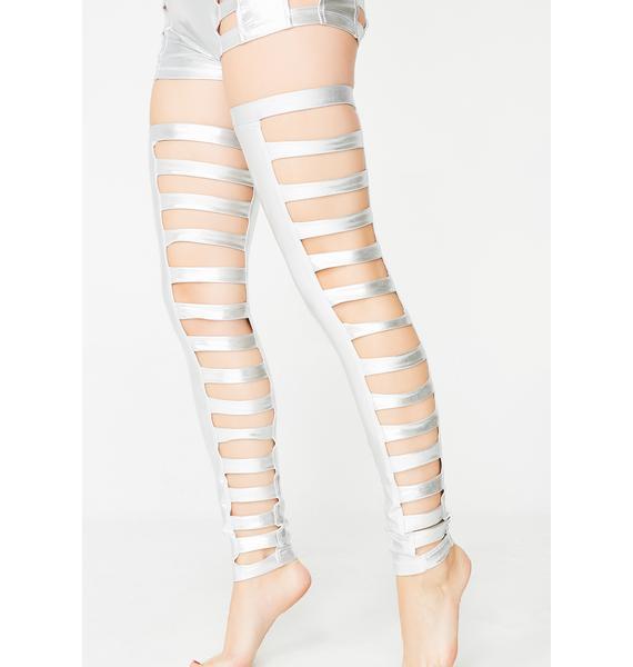 Five and Diamond Chrome Cage Legs
