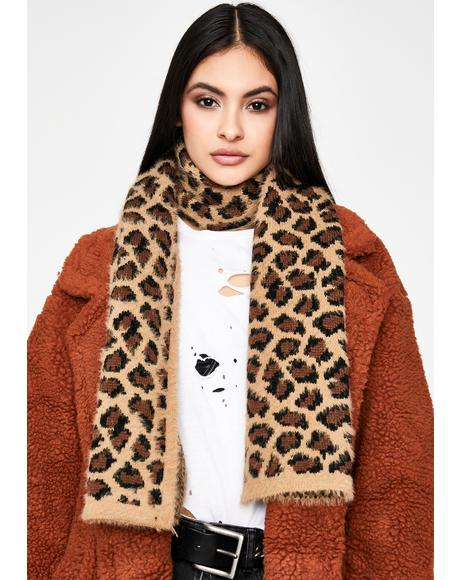 Cuddle Cat Leopard Scarf