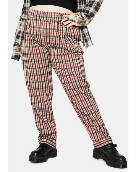 Too Bad For U Plaid Trousers
