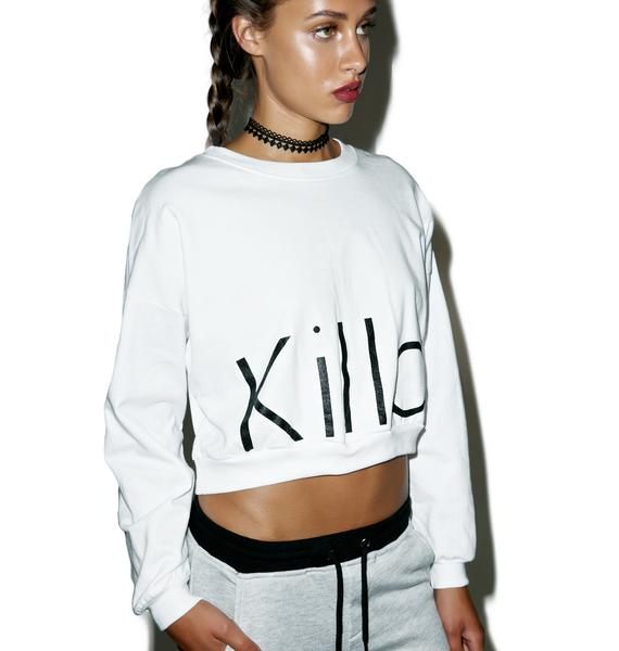 Kill Brand Killa Cropped Crewneck