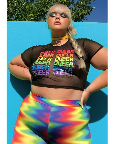 Got Queer Pride Mesh Top
