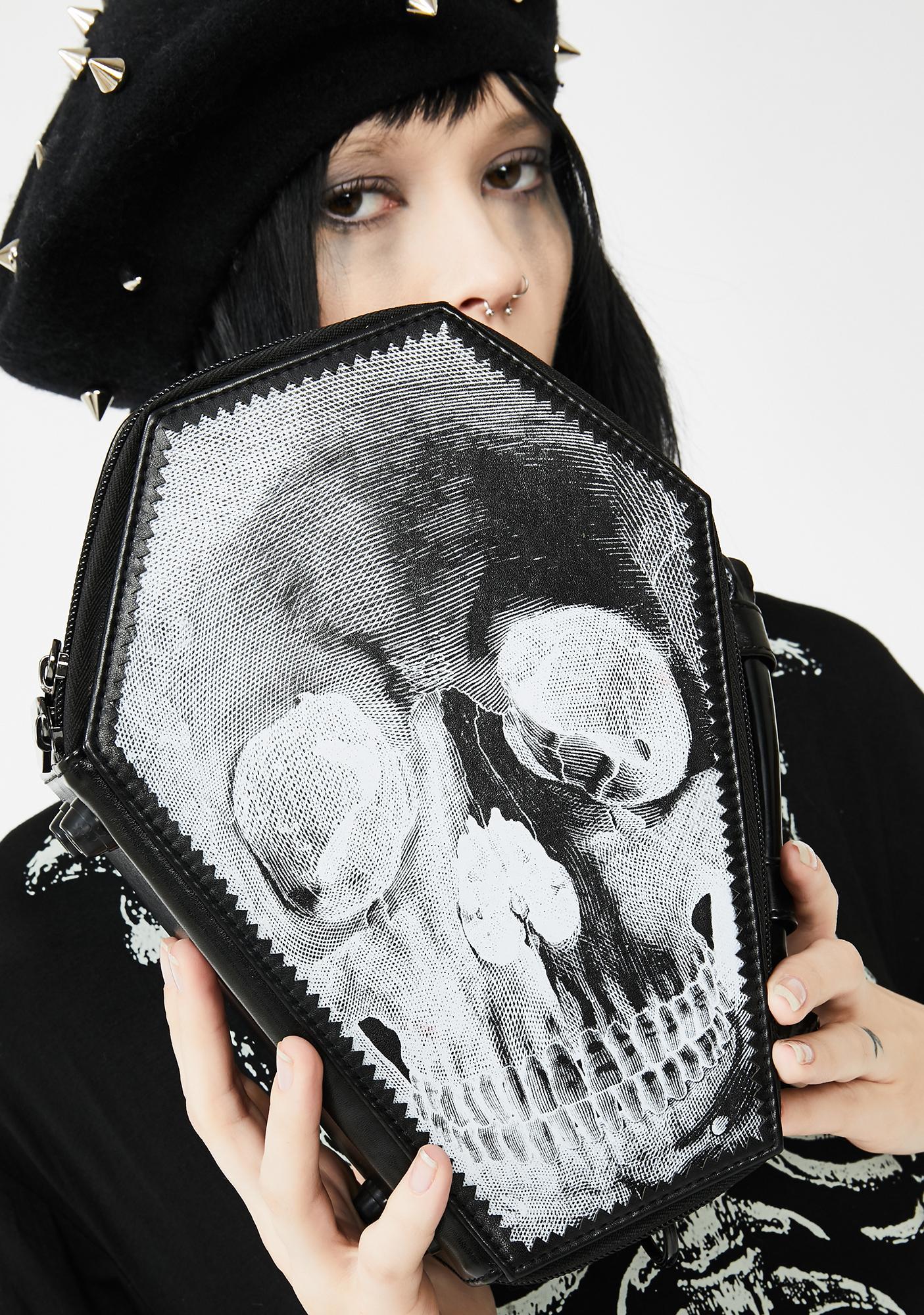 Kreepsville 666 Anatomical Skull Coffin Purse Bag