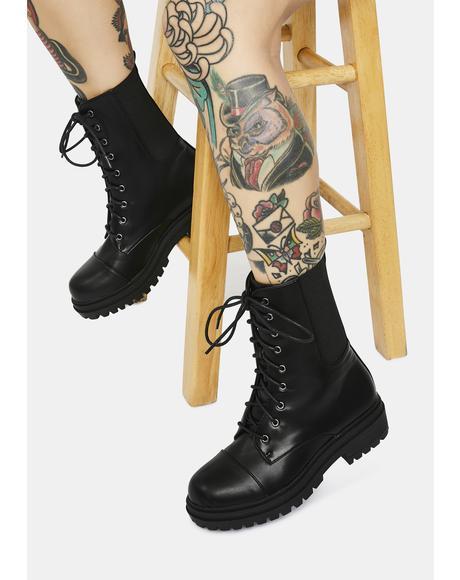 To Crescendo Combat Boots